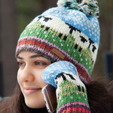 Knit Lamb Stripe Toque