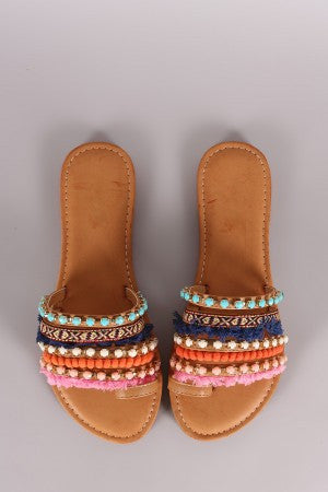 6d5f66cff62 ... Bamboo Strappy Jeweled Toe Ring Slide Flat Sandal - Simply BKC - 4