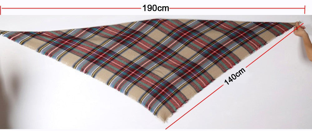 a38a0dc23 ... 2 · Camel Plaid Blanket Scarf - Simply BKC - 3