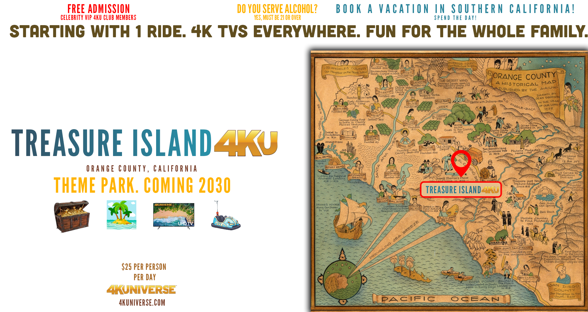 Treasure Island 4KU Theme Park