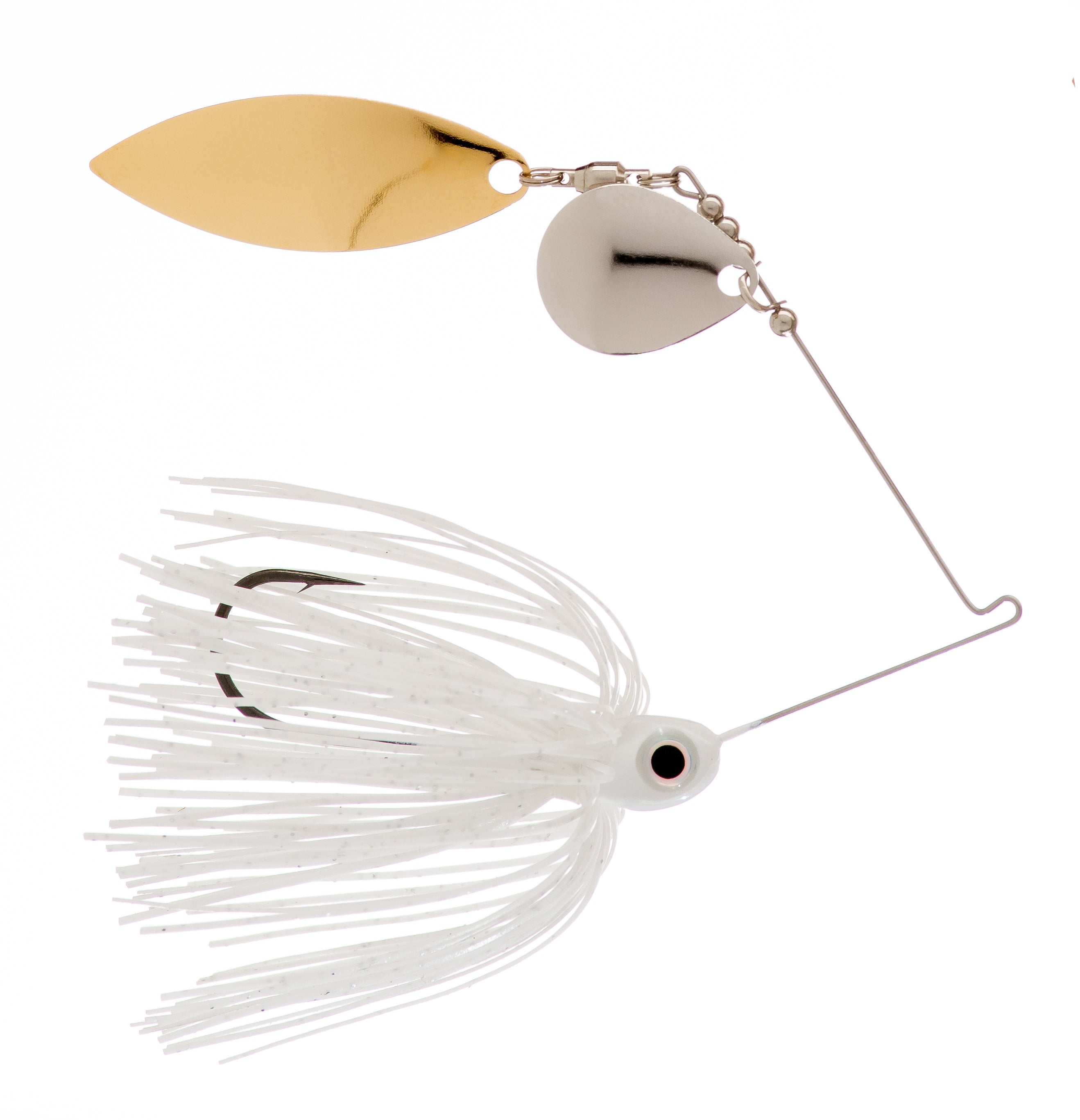 3/8 oz  White  Spinner Baits - Kajun Boss Outdoors