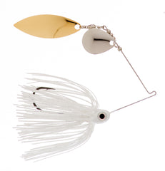1/2 oz  White  Spinner Baits - Kajun Boss Outdoors