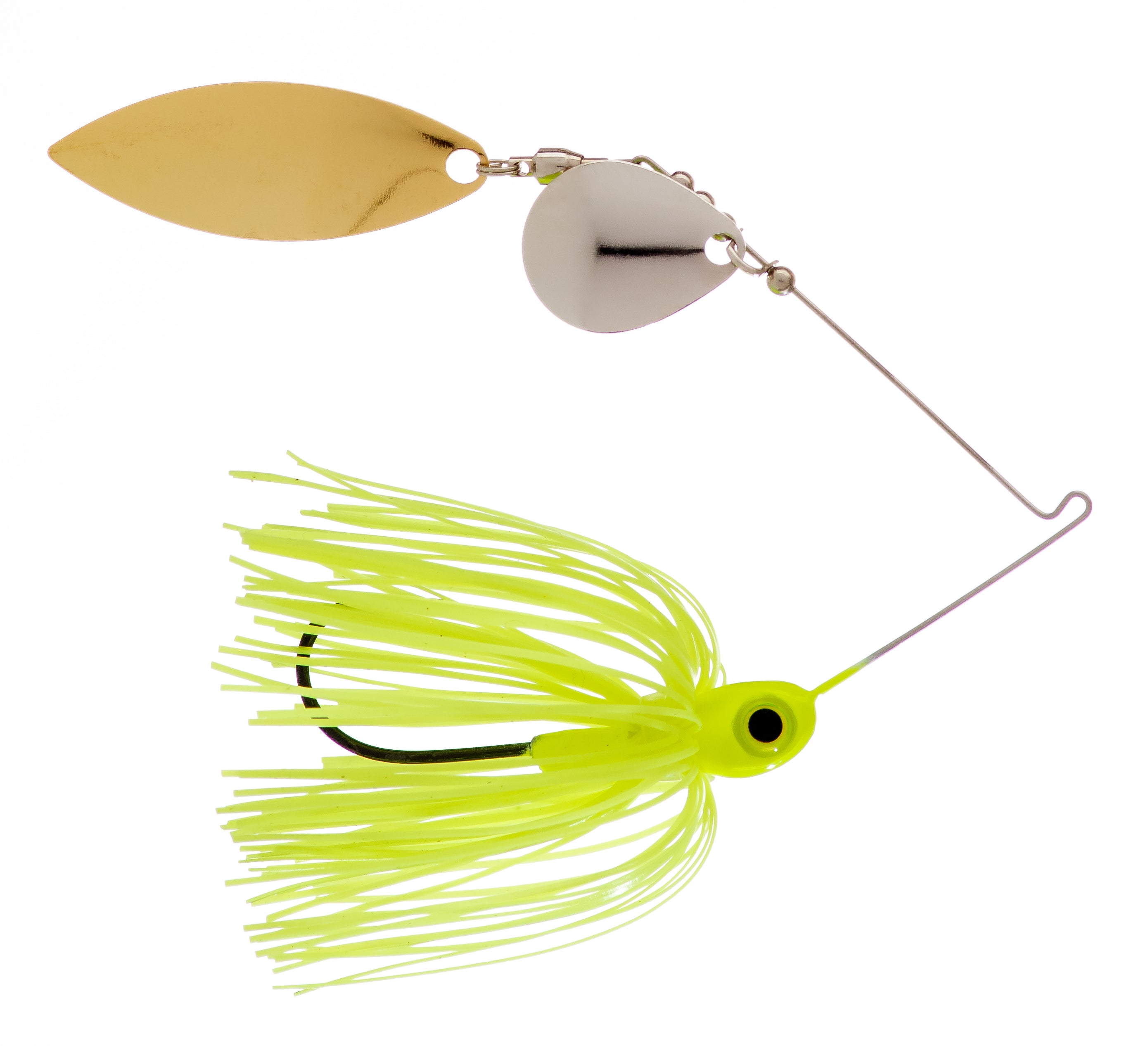 1/4 oz  Chartreuse Spinner Baits - Kajun Boss Outdoors