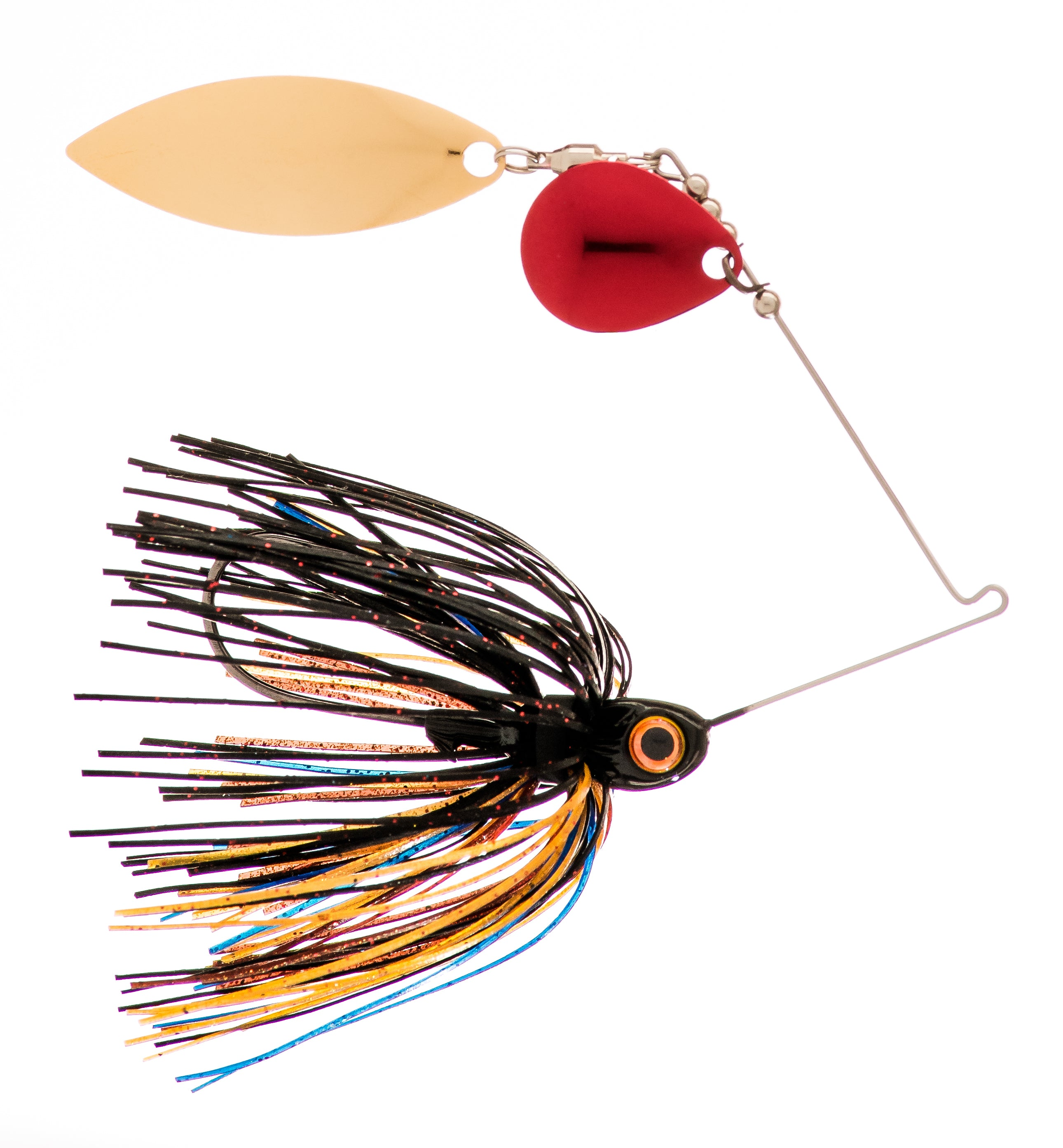 1/4 oz  Black / Brown / Amber  Spinner Baits - Kajun Boss Outdoors