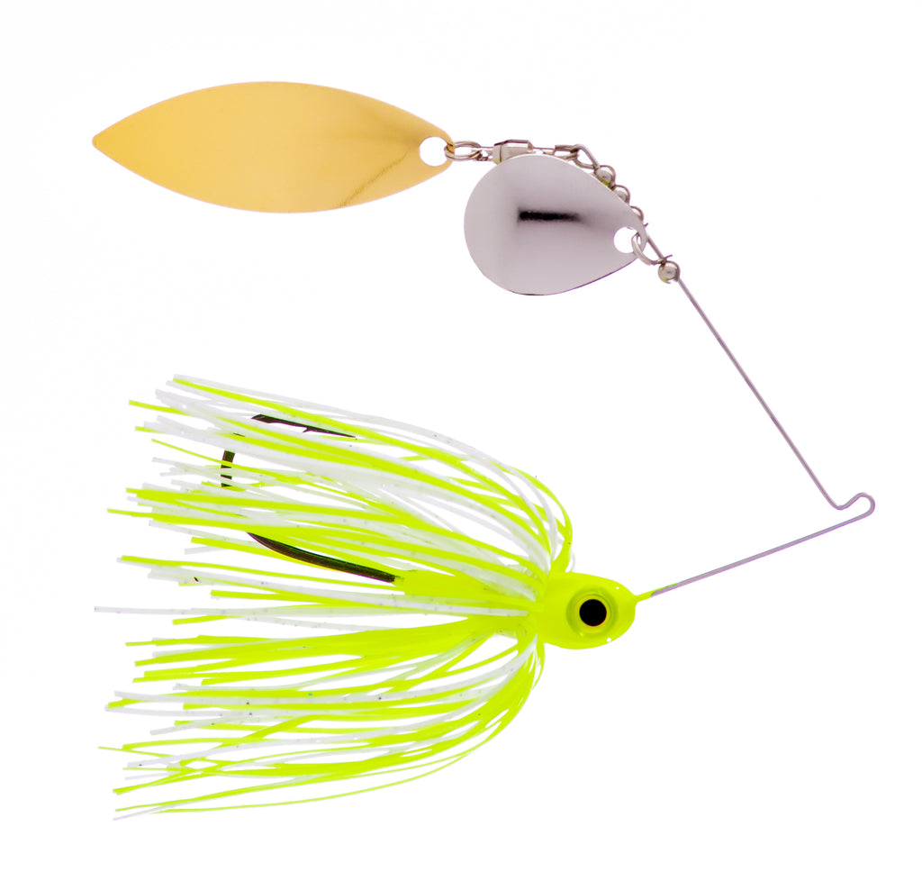 3/8 oz  White / Chartreuse Spinner Baits