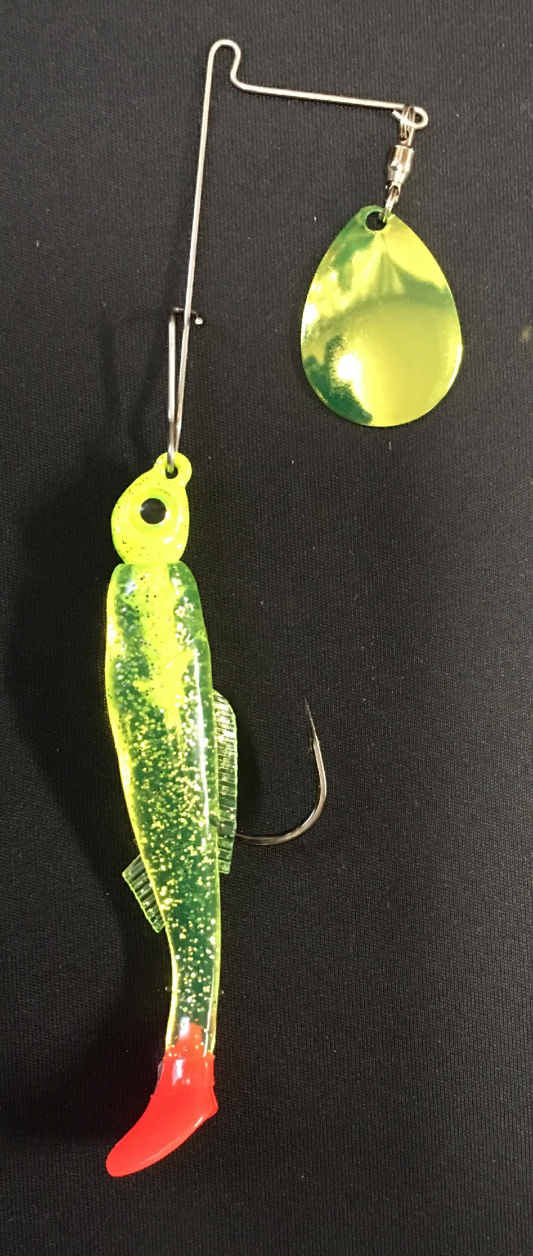 1/4 oz Chartreuse Fire Tail - Kajun Boss Outdoors