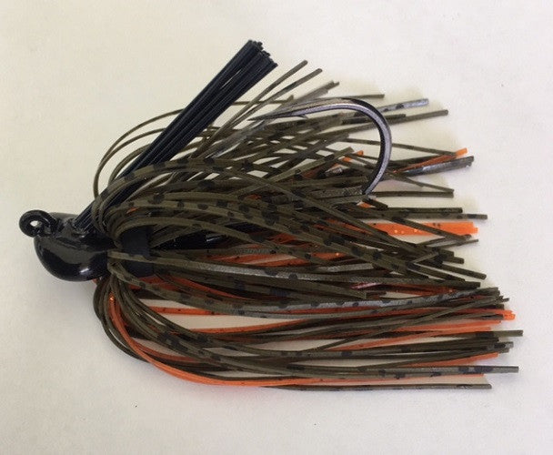 Green Pumpkin Crush Flipping Jig - Kajun Boss Outdoors