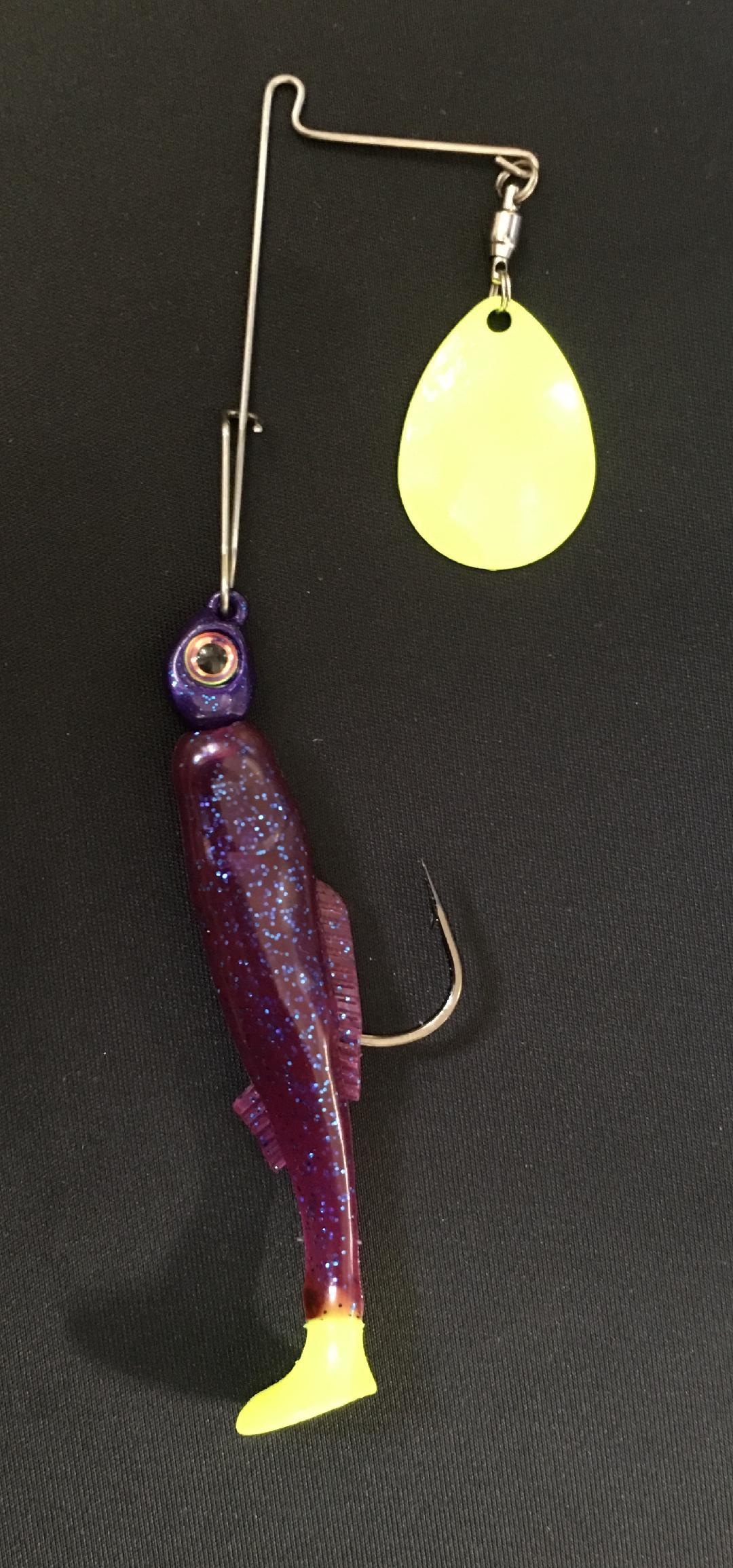 1/4 oz Purple / Blue Glitter / Chart Tail - Kajun Boss Outdoors