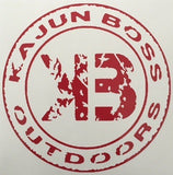 Red decals - Kajun Boss Outdoors
