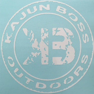 White decals - Kajun Boss Outdoors