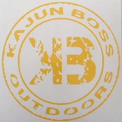 Yellow decals - Kajun Boss Outdoors
