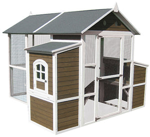 Coops & Feathers®  Large Walk-In Barn Coop