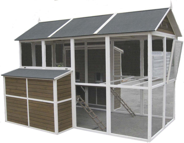 Coops & Feathers® XL Walk-In Barn Coop