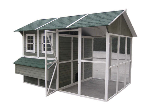 "Coops & Feathers  Extreme Chicken Barn 140.6"" x 108.3"" x 96"" item #220-03"