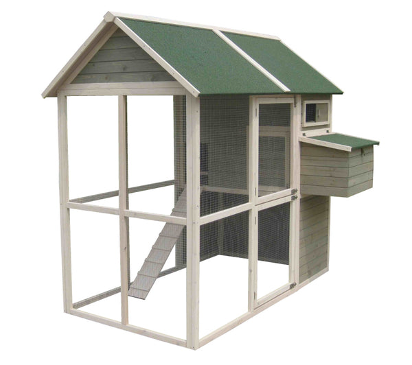 Coops & Feathers® Large Walk-In Hen Coop