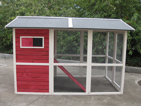 Coops FeathersTM Medium Hen House Vintage Red 76 X 50