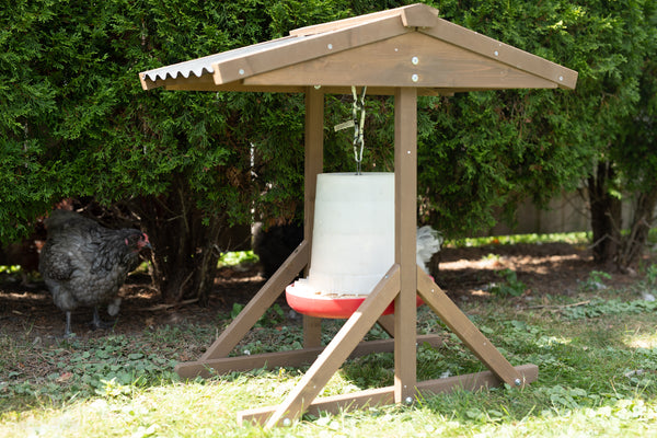 Coops & Feathers® Wood Food & Water Shelter - Large