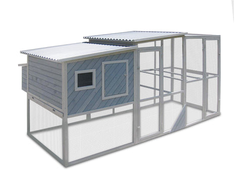 Coops & Feathers Urban Coop with PVC Roof (240-75PVC)
