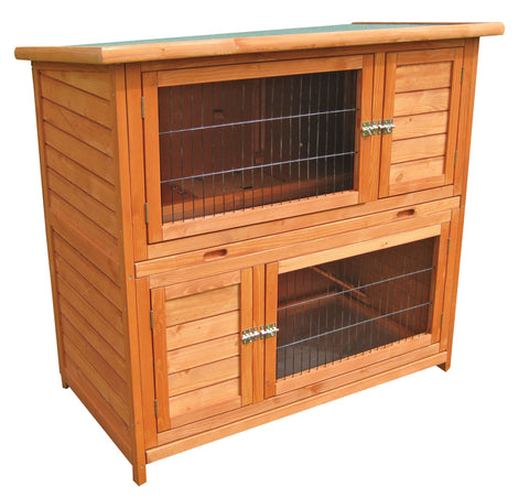 Hutches & Cottontails Double Rabbit Home Item #260-18