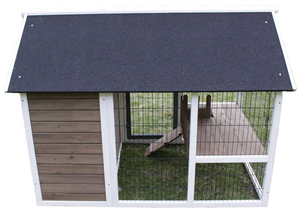 "Hutches & Cottontails Bunny Barn 3'7""h x 4'11""w x 2'11""d"