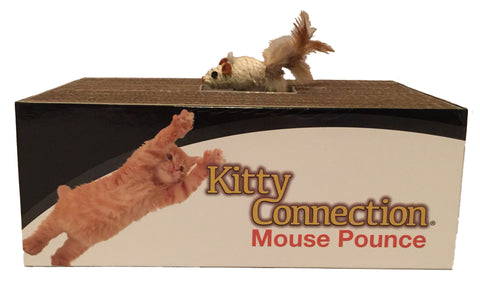 Kitty Connection® Mouse Pounce, Sisal. Inside Corrugated Box Item #559-96