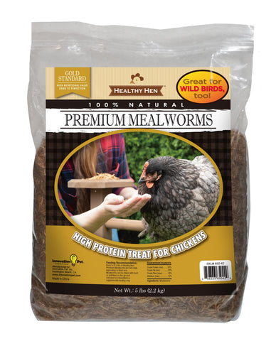 Premium Mealworms, 5lb bag (SKU 650-42)