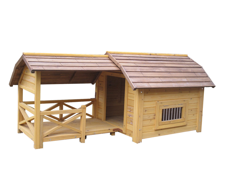 "House & Paws™ Wooded Lux Pet House 68"" x 47"" x 35"" item #280-50"