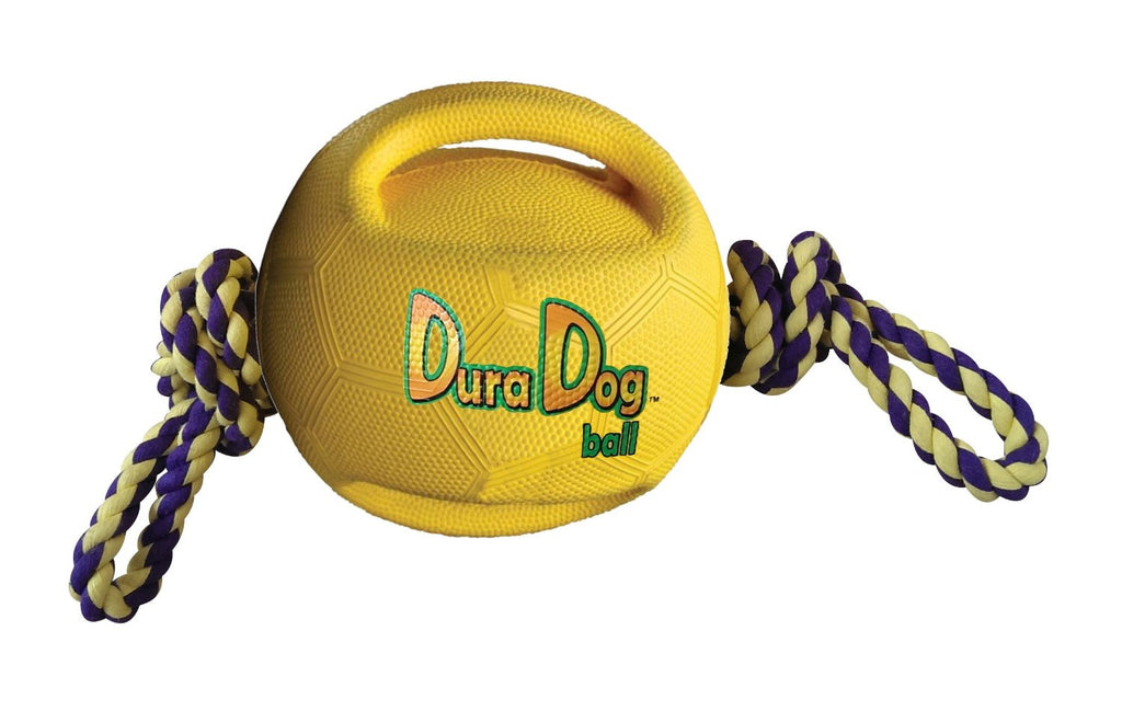 DuraDogBall™ Interactive Grip Ball w/Rope Large Item #360-02