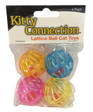Kitty Connection® Lattice Balls 4-Pack Item #598-04