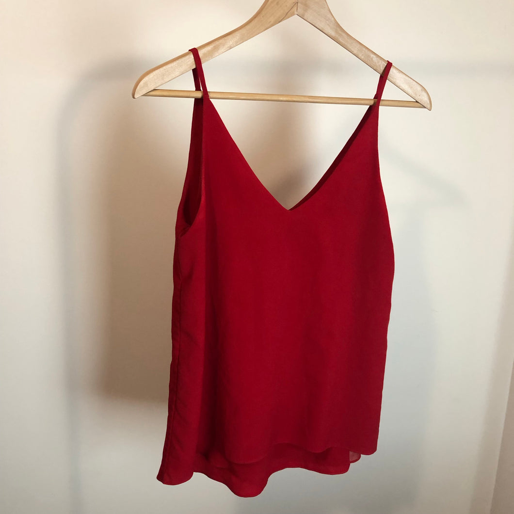 Red cami singlet (Forever New)