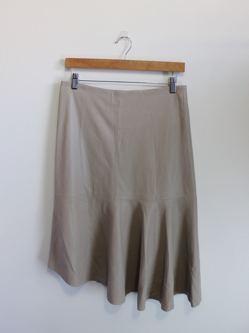 Nude Faux Leather Skirt (Seed)