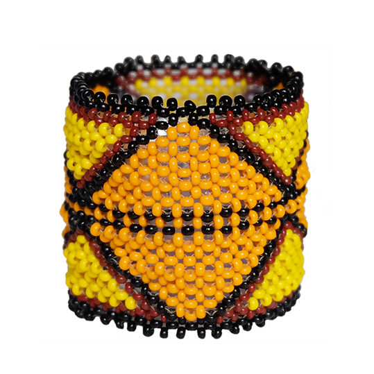 "Bracelet ""Pequeno"" orange et jaune"