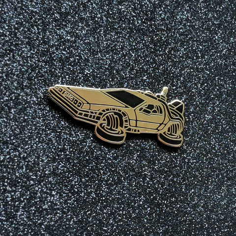 Doc Brown's Time Machine - Black & Gold Limited Edition