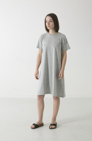 HEMP JERSEY ALINE CREW TEE DRESS