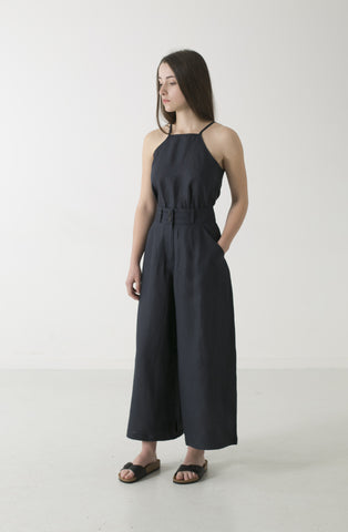 WOMENS HEMP LINEN WIDE LEG PANT