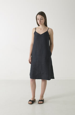 WOMENS HEMP LINEN SLIP DRESS