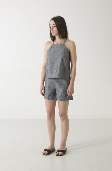 HEMP LINEN PINAFORE TOP