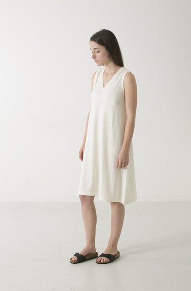 HEMP JERSEY ALINE V TANK DRESS