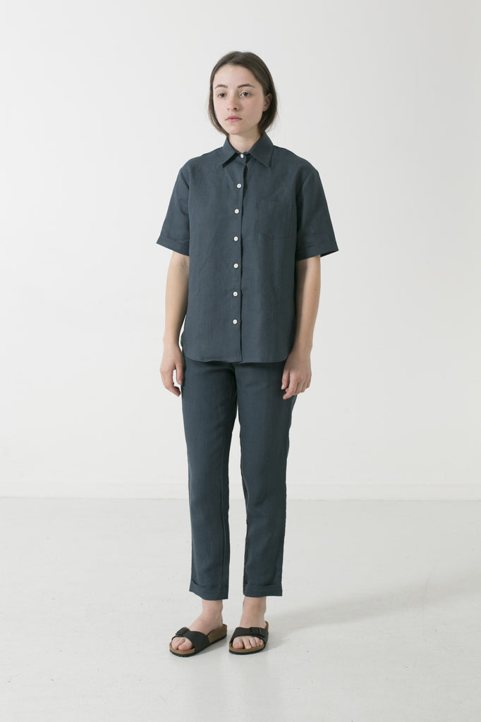 HEMP CLASSIC COLLAR SHORT SLEEVE SHIRT