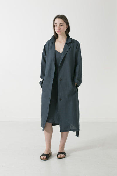 HEMP LINEN DUSTER TRENCH