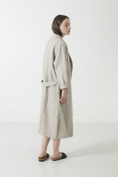 HEMP/YAK/WOOL TWEED DUSTER