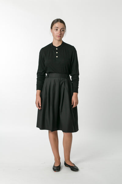 AUSTRALIAN WOOL PLEATED SKIRT