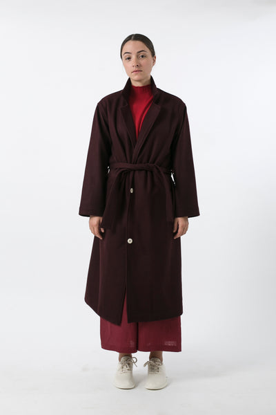 AUSTRALIAN WOOL MELTON TRENCH