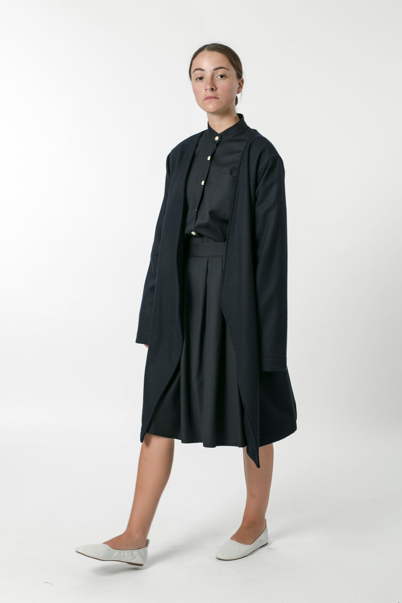 AUSTRALIAN WOOL MELTON WRAP JACKET
