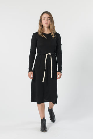 AUSTRALIAN MERINO DRAWSTRING DRESS