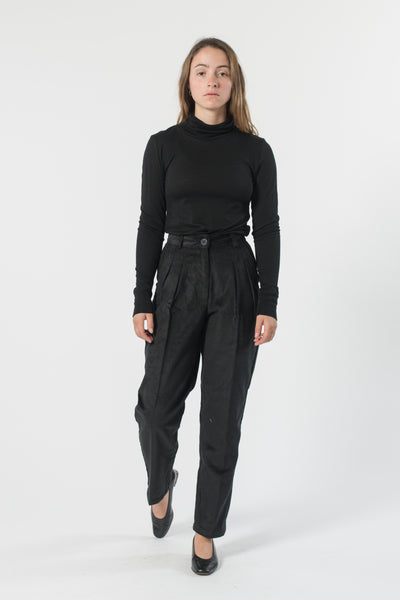 HEMP CORDUROY PLEATED PANT