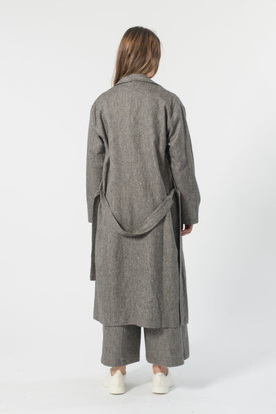 SPECK HEMP DUSTER TRENCH COAT