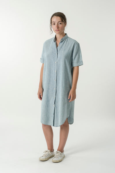 HEMP DENIM SHIRT DRESS