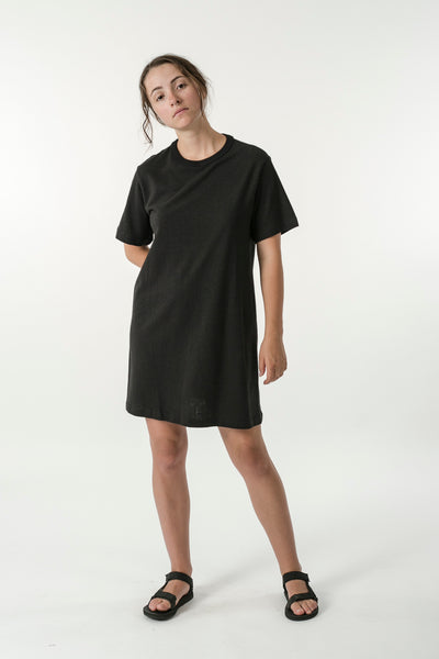 HEMP JERSEY MINI TEE DRESS