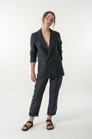 WOMENS HEMP LINEN BLAZER